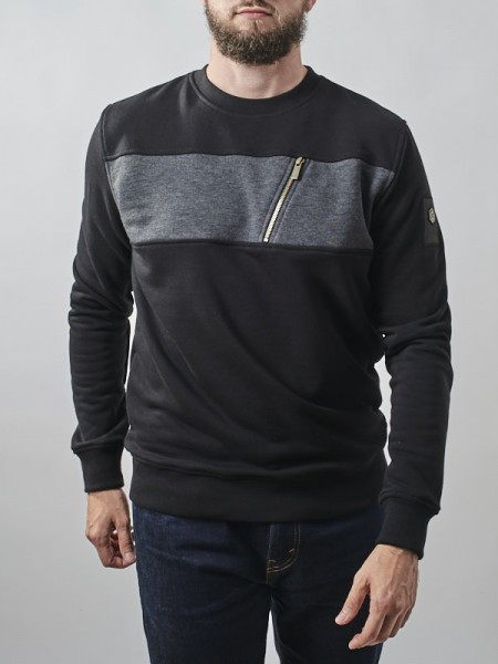 Stripe Pocket Crewneck BCK
