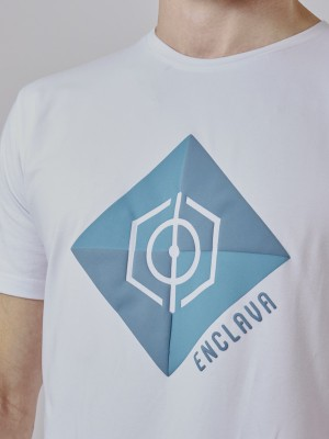 Print Square T-Shirt  WHT