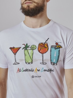 Cocktails T-Shirt WHT