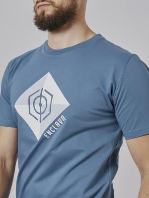 Print Square T-Shirt BLU