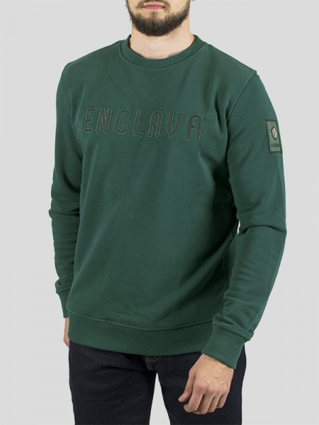 OXFORD CREWNECK SWEAT GRN
