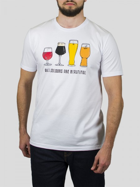BEER T-SHIRT WHT