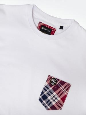 Tartan Pocket T-shirt WHT