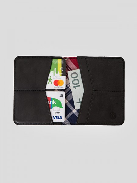 Tartan Slim Leather Wallet BCK