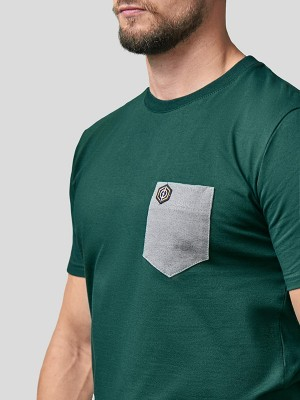 Print Pocket T-Shirt GRN