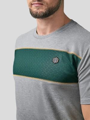 Block Stripe T-Shirt GRY