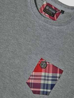Tartan Pocket T-shirt GRY