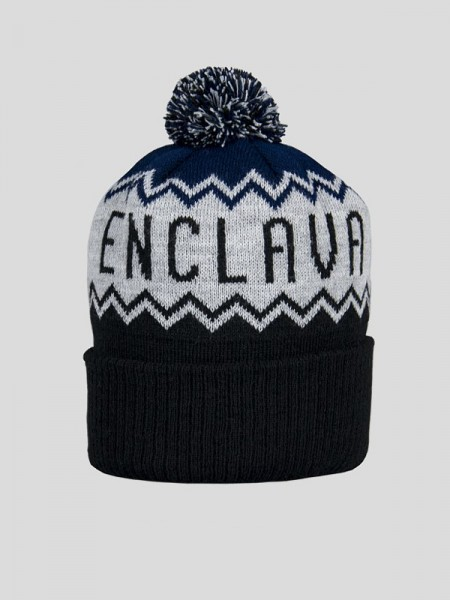Bobble Hat BCK/GRY/NV