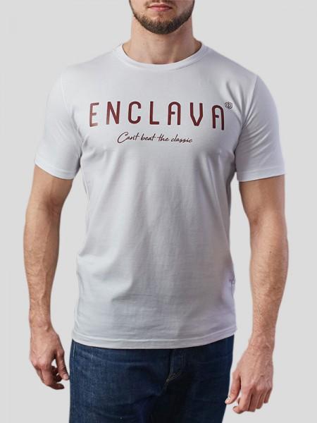 Print Enclava T-shirt WHT