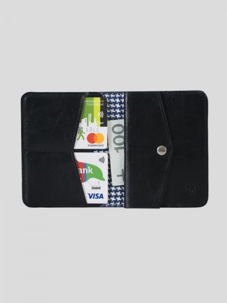 Slim Leather Coin Wallet BCK