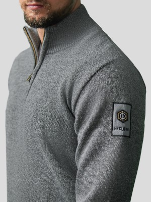 Classic Half Zip Pullover GRY